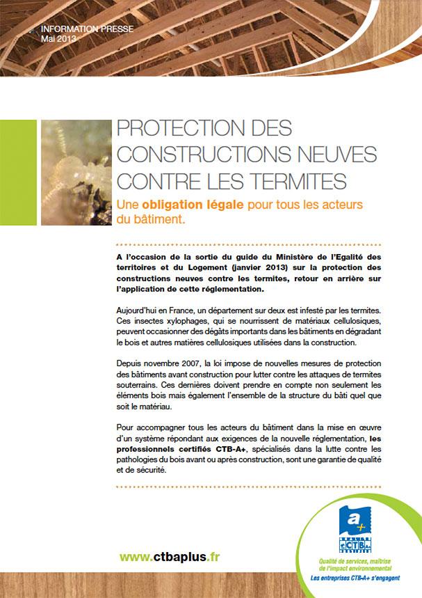 protection des constructions neuves contre les termites une obligation l gale pour tous les. Black Bedroom Furniture Sets. Home Design Ideas